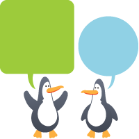 Penguins in conversation