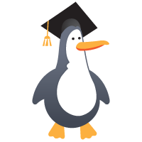 Penguin wearing a mortar board