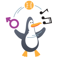 Penguin juggling