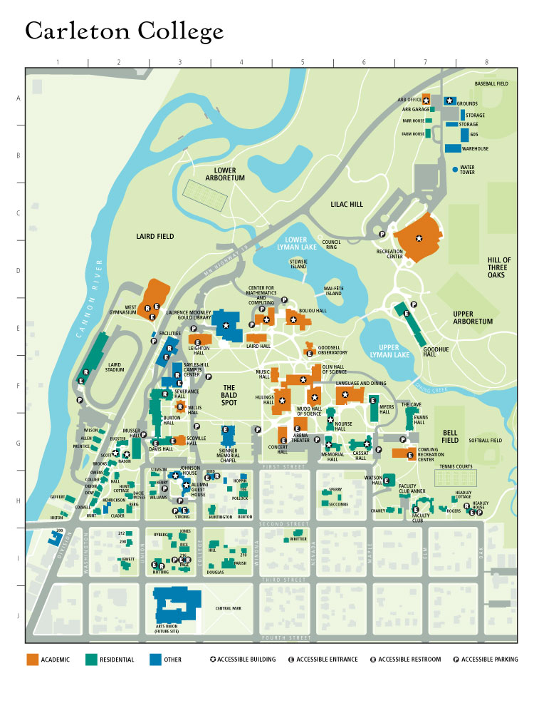 Amazing Carleton College Map Images - Printable Map - New ...