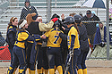 The Knights celebrate one of two Jenny Ramey '14 homers in Carleton's 11-2 rout of St. Mary's