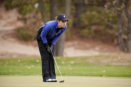 Taylor Wells, women's golf action
