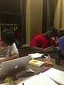 Studying in Sayles-Hill Campus Center.