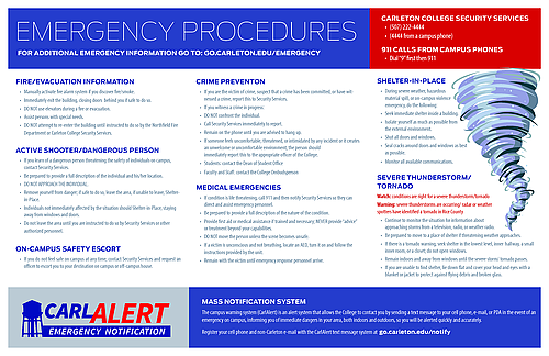 emergency procedures when storm warnings are in effect In oklahoma, we have felt the effects of floods, ice storms, grass fires, tornadoes, industrial ensure the availability and functioning of facility emergency warning system 6 see the supplement to the emergency action plan for long term care facilities for more information on this.
