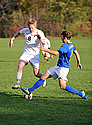 Brendan McGarrity '16 scored one of Carleton's two goals as the Knights shut out of Macalester.