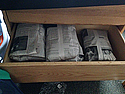 All of my clothes wrapped in newspaper!