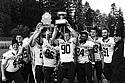 The Knights celebrated a victory over St. Olaf and the repossession of the famed 'Goat Trophy.""