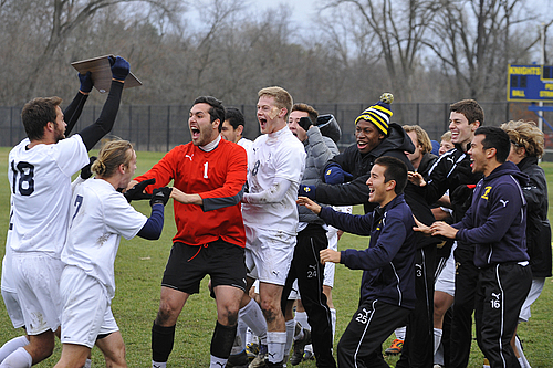 Award Ceremony, men's soccer action