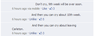 Facebook Conversation Re: 9th Week