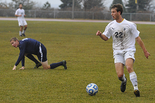 Will Schifeling, men's soccer action