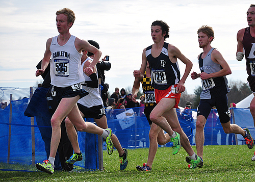 Hart Hornor, men's cross country action
