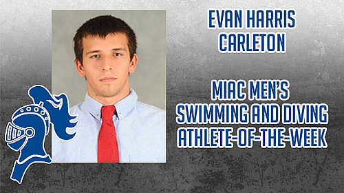 Evan Harris, men's swimming, MIAC AOW image
