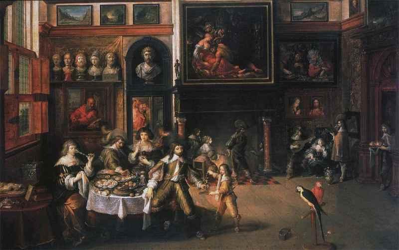 fig 5 frans francken ii large salon in the house of nicolaas rockox ca 1630 35. Black Bedroom Furniture Sets. Home Design Ideas