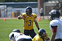 Zach Heinrich, football action