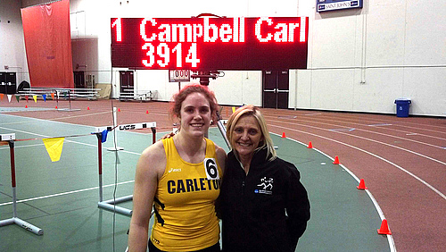 Amelia Campbell, women's track and field action