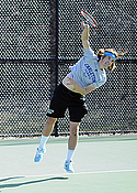 Erik Johnson, men's tennis action
