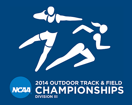 2014 NCAA Outdoor Track & Field Championships logo (vertical)