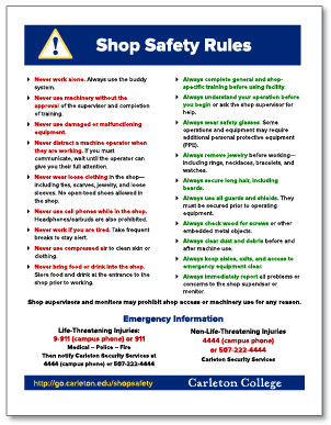 Shop Safety Rules thumbnail