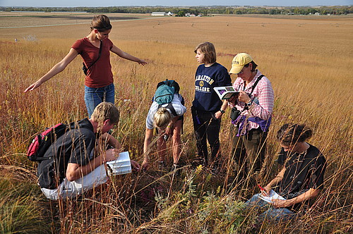 Student Naturalists Examine Gopher Holes