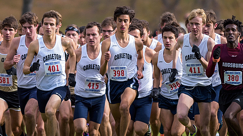 , Men's Cross Country action