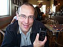 Professor Jeff Ondich with smart phone