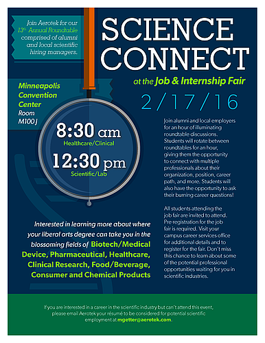 2016 Minnesota Private Colleges Job and Internship Science Connect