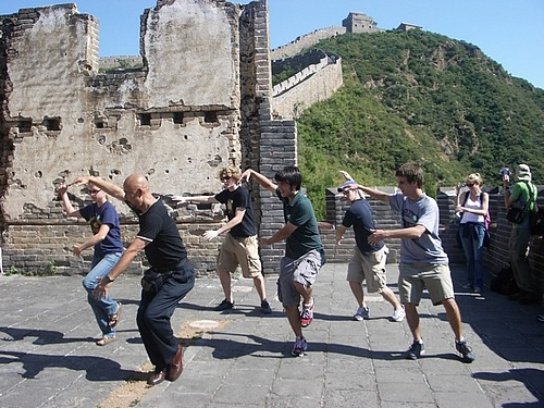 Tai Chi on Wall