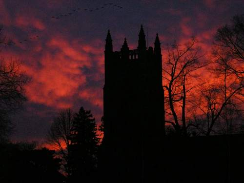 Chapel sunset