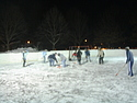 Broomball Faceoff