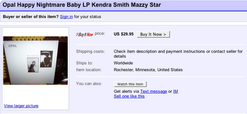 Opal's 'Happy Nightmare Baby' fetches mad catch on eBay