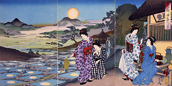 Chikanobu, <em>Moon Viewing</em>