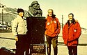Beside statue of Admiral Byrd at Antarctica's McMurdo Station, during 1969 trip.