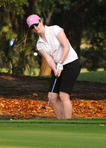 Kassie Wells, women's golf action