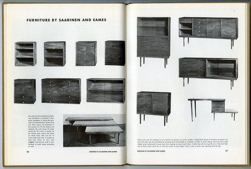 Furniture by Saarinen and Eames
