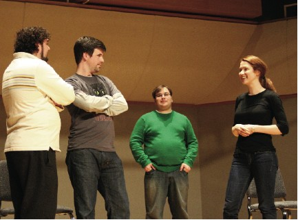 Member's of Carleton's comedy groups worked closely with UCB, which holds a reputation as one of the nation's best improv groups.