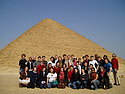 The MEMS group at a pyramid in Dashur, outside Cairo.