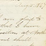 Letter from Professor Horace Goodhue (Detail)