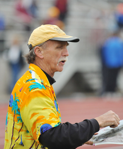 Head Coach Dave Ricks, men's track and field