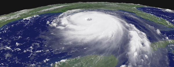 Hurricane Katrina satellite image courtesy of Flickr user GISuser