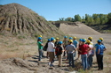 The Introductory Geology class at the gravel pit near Little Chicago, Minnesota