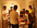 Takoyaki cooking event, fall 2008