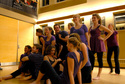 A recent performance in Sayles featuring the Ebony dance group.