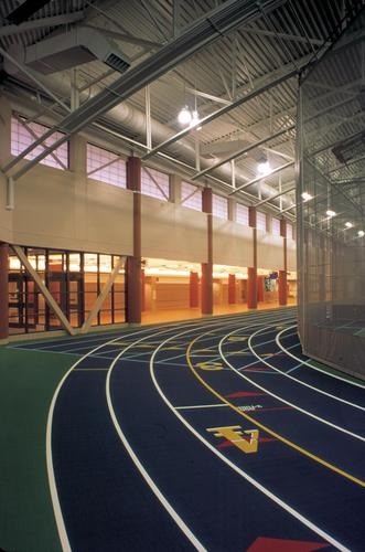 Indoor track at Rec Center