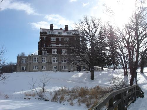 Evans Hall in winter