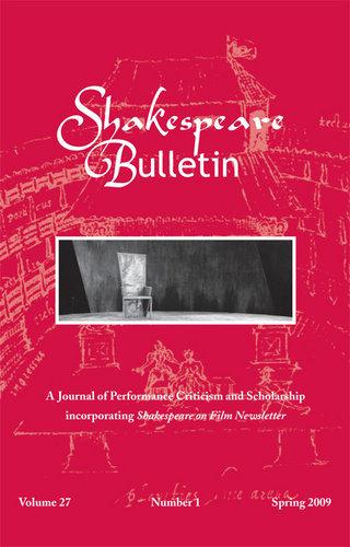 Shakespeare Bulletin Cover