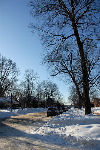 Northfield street in winter