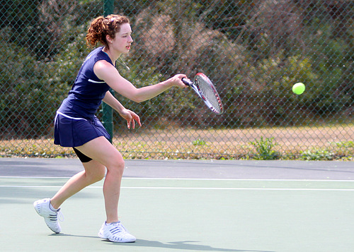 Kathryn Schmidt, Women's Tennis action