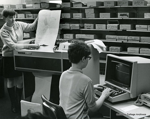 Computer Lab At Carleton College 1969 Gould Library