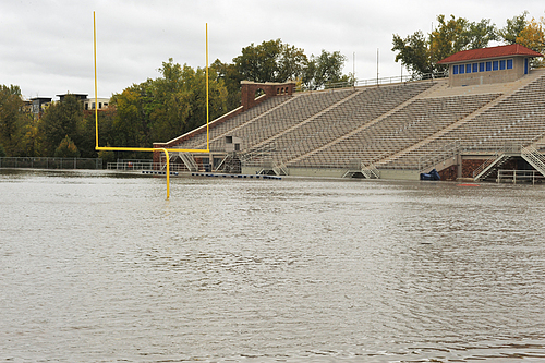 West Gym and Laird Stadium Flooding, 9/24/10