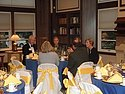 Dinner Guests in the Alumni Guest House Library